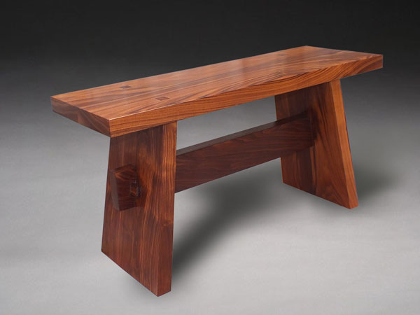 Japanese walnut contenplation bench benham design concepts